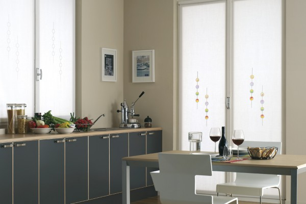 Tende a vetro como idea casa molteni - Tende da cucina particolari ...